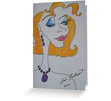 Opera Guest.... Greeting Card