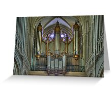 Notre-Dame de Bayeux -The Big Organ Cavaillé-Coll Greeting Card