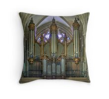 Notre-Dame de Bayeux -The Big Organ Cavaillé-Coll Throw Pillow