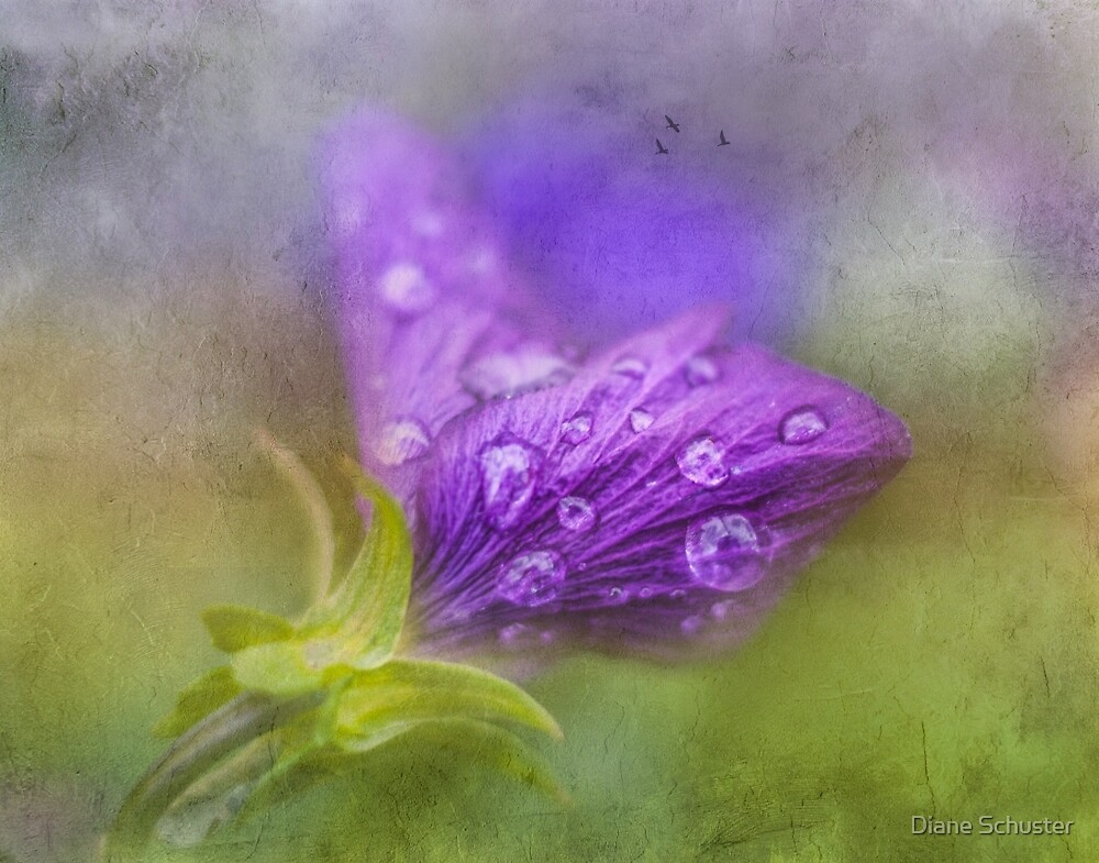 It's Difficult To Lift Your Eyes Upto Heaven When The Raindrops Weigh You Down by Diane Schuster