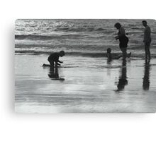 Family Silhouette Canvas Print
