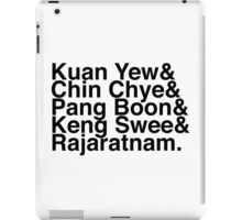 PAP Right-Wing Helvetica List (No SG50 logo) iPad Case/Skin