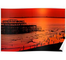 Brighton Sunset Poster