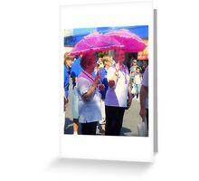Moe Jazz Festival 2010 ~ Pink Ladies Greeting Card
