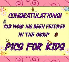 """Feature Banner for the group """"Pics for Kids"""" by AndreaFettweis"""