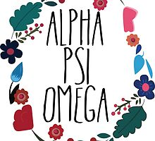Alpha Psi Omega Flower Wreath by Margaret Young
