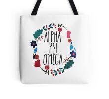 Alpha Psi Omega Flower Wreath Tote Bag