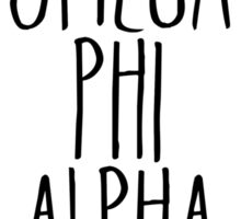 Omega Phi Alpha Flower Wreath Sticker