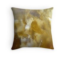 Citrine crystal. Throw Pillow