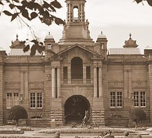 Cartright Hall ~ Lister Park ~ In Sepia ~ by Sandra Cockayne