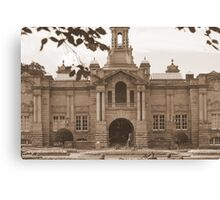 Cartright Hall ~ Lister Park ~ In Sepia ~ Canvas Print