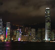 Hong Kong Sky Line At Night by SBJC