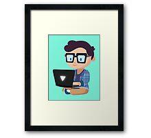 Cute Geek Framed Print