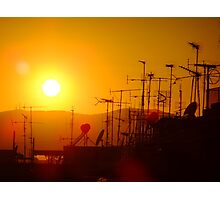 Sunset on civilisation Photographic Print