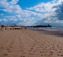 hoofprints in the sand, colour by Paul Jarrett