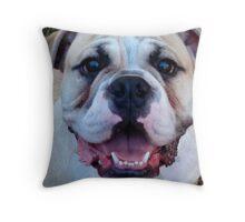 Smiles Alot (Bulldog) Throw Pillow
