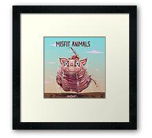 Misfit Animals Framed Print