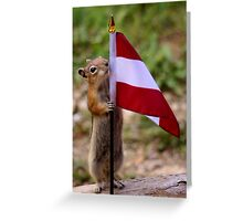 Jasper's Young Intern With The Flag of Austria Greeting Card