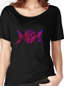Pink Triple Goddess Symbol Women's Relaxed Fit T-Shirt