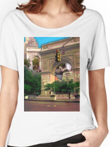 Washington Square Arch, Greenwich Village, NYC, NY Women's Relaxed Fit T-Shirt