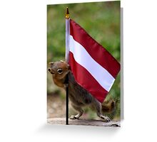 Baby Chip In Training for Animal Welfare Work in Austria Greeting Card