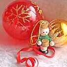 Little drummer boy with red glass ball by pogomcl