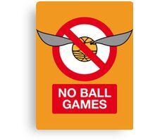 Harry Potter No Ball Games Canvas Print
