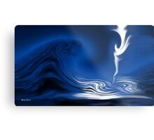 How Deep Is The Ocean-Abstract+Products Design Metal Print