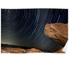 Desert Star trails  Poster