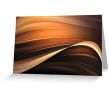Chocolate and Caramel Mix Abstract Flow Greeting Card