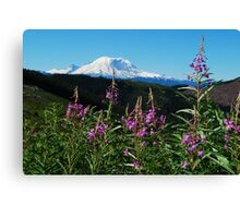 Summer at Mt. Rainier Canvas Print