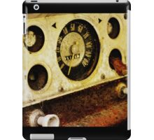Rusted Insturment Panel iPad Case/Skin