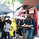 The Rain Don't Stop Play Today: Portobello Road Market, London, UK. by DonDavisUK