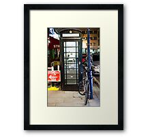 Booth & Bike Framed Print