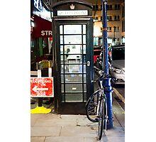 Booth & Bike Photographic Print