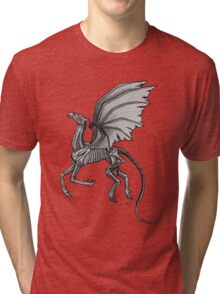 Thestral #2 with Gray Background Tri-blend T-Shirt