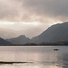 Rowboat Lake Derwent Keswick England 199711130034 by Fred Mitchell
