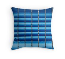 Abstract (blue) Throw Pillow