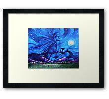 'Beneath the Cloak of Night (God Night)' Framed Print