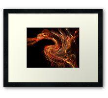 Flame dragon Framed Print