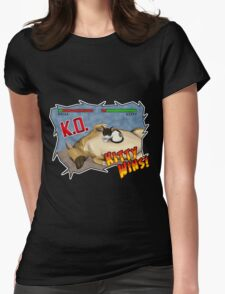 Kitty Wins!! Womens Fitted T-Shirt