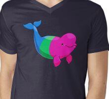 Polysexuwhale - no text Mens V-Neck T-Shirt