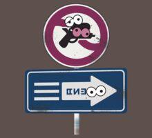 Splatoon Inspired: Googly Eyes Street Sign by kajatta