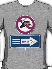 Splatoon Inspired: Googly Eyes Street Sign T-Shirt
