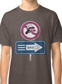 Splatoon Inspired: Googly Eyes Street Sign Classic T-Shirt
