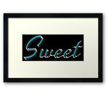 Sweet - Faux Turquoise Text Effect Framed Print