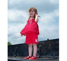 Windy Day Princess Photographic Print