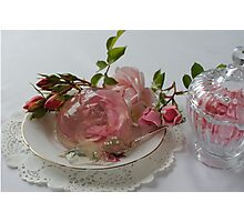 Rose dessert - by Darren Harwood Photographic Print
