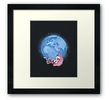 Lost in a Space / Homeckly Framed Print