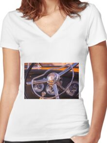 Chromed Cruiser 2 Women's Fitted V-Neck T-Shirt